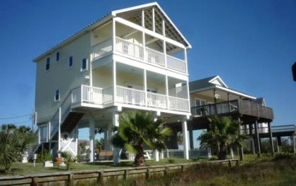 Gulf coast texas vacation rentals by owner gulf coast for Beach house plans galveston